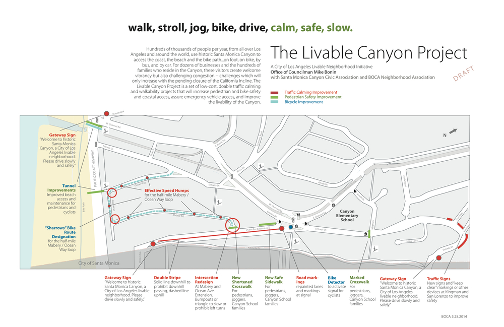 CLICK ON IMAGE TO SEE FULL SIZE - Draft Map and Description of the Livable Canyon Project
