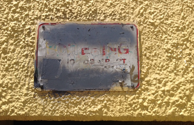 """Defaced """"No Loitering"""" signs at the beach tunnels will be replaced"""