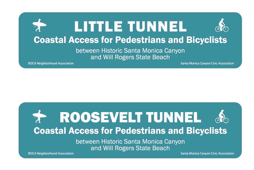 new gateway signs for the beach tunnels