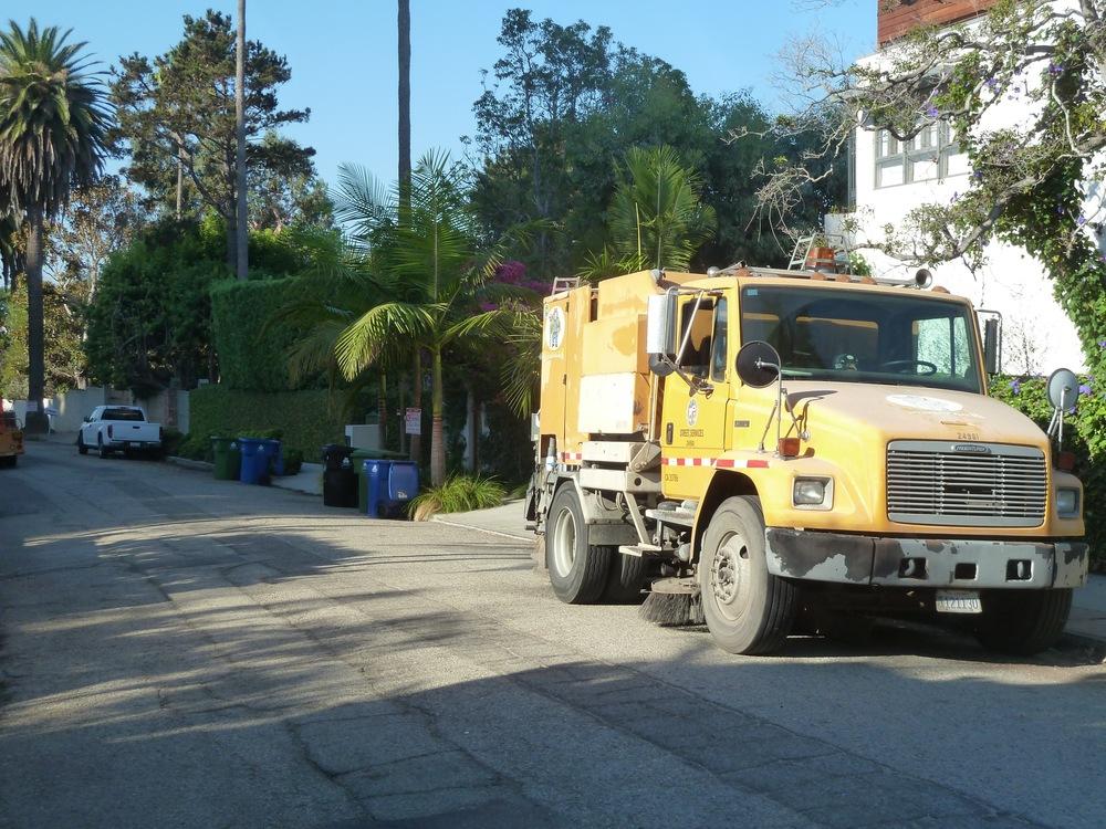 Trucks arrive