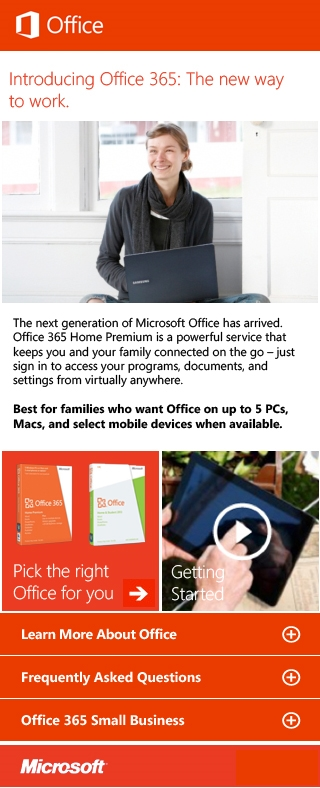 Office 365 Microsite