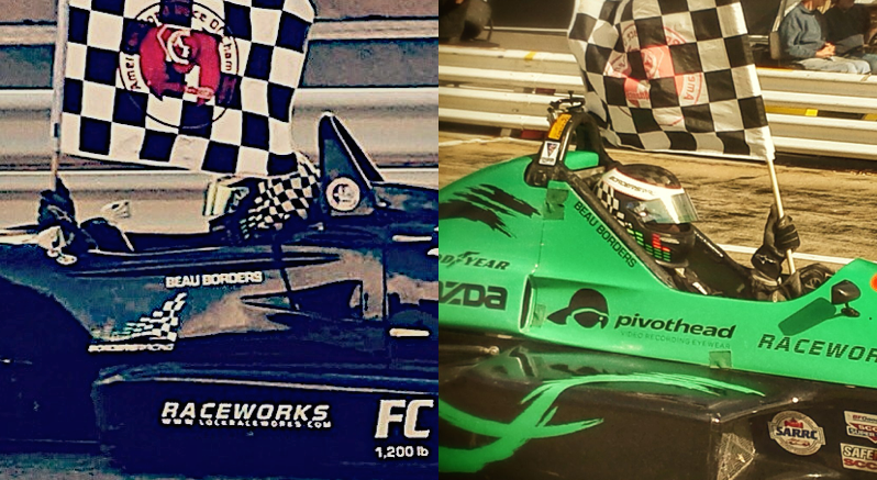 F2000 on the left, Formula Mazda on the right.