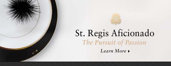 St. Regis Aficionado Website