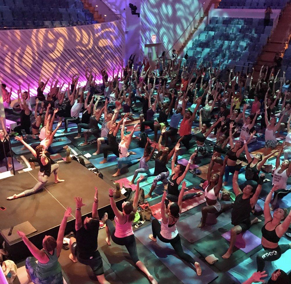 Students at International Yoga Day