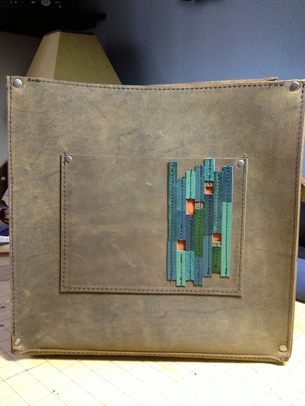 Brown Messenger Bio Cell Bag under flap