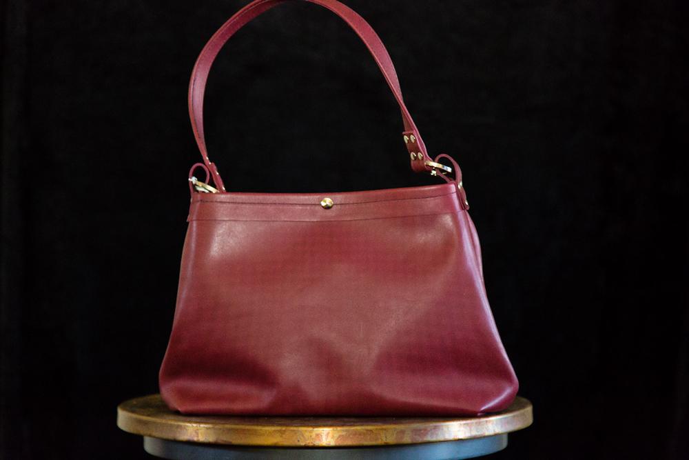 Plum Leather Handbag