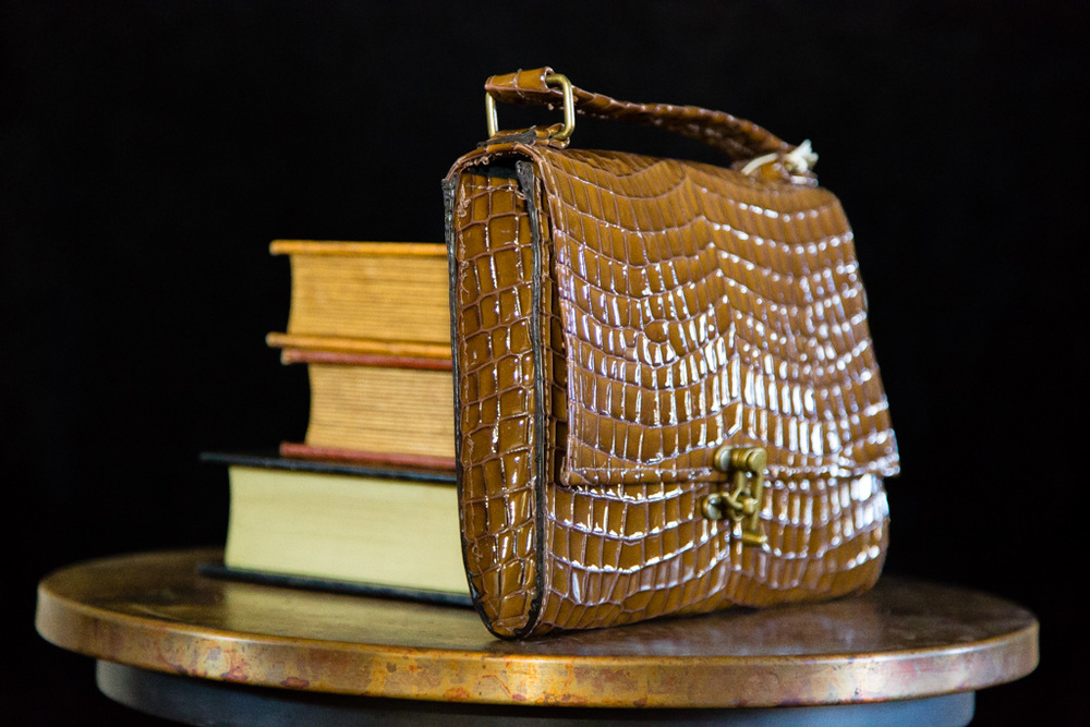 Patent Leather Retro Clutch-side view