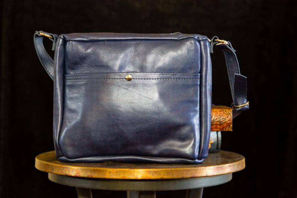 Lizardskin Accented Messenger Bag