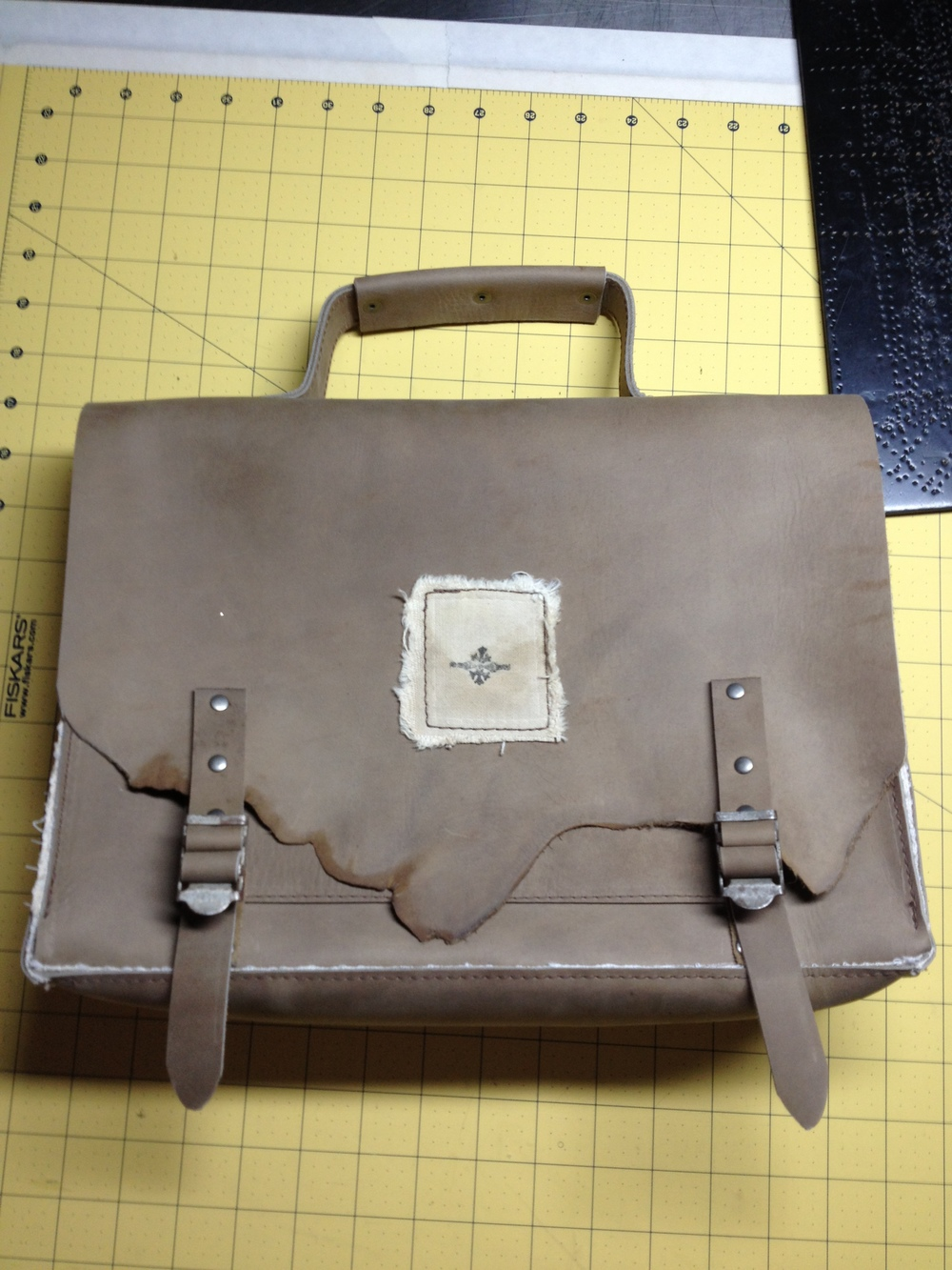 Vintage Briefcase/Messenger Bag
