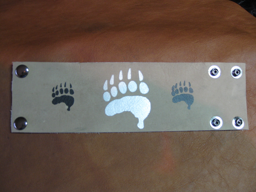 Handpainted Leather Cuff