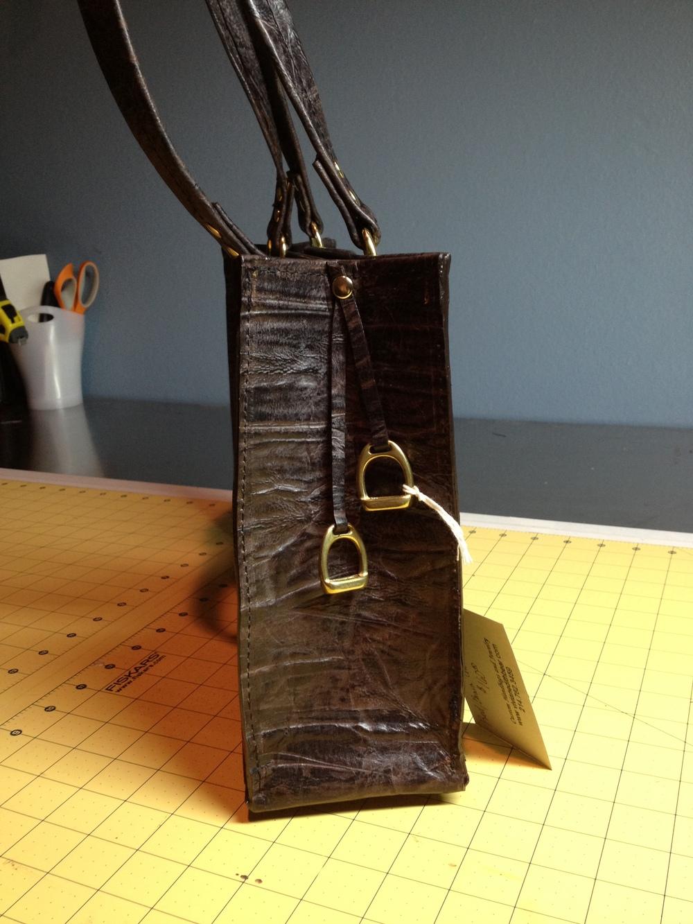 Equestrian style Handbag-side view
