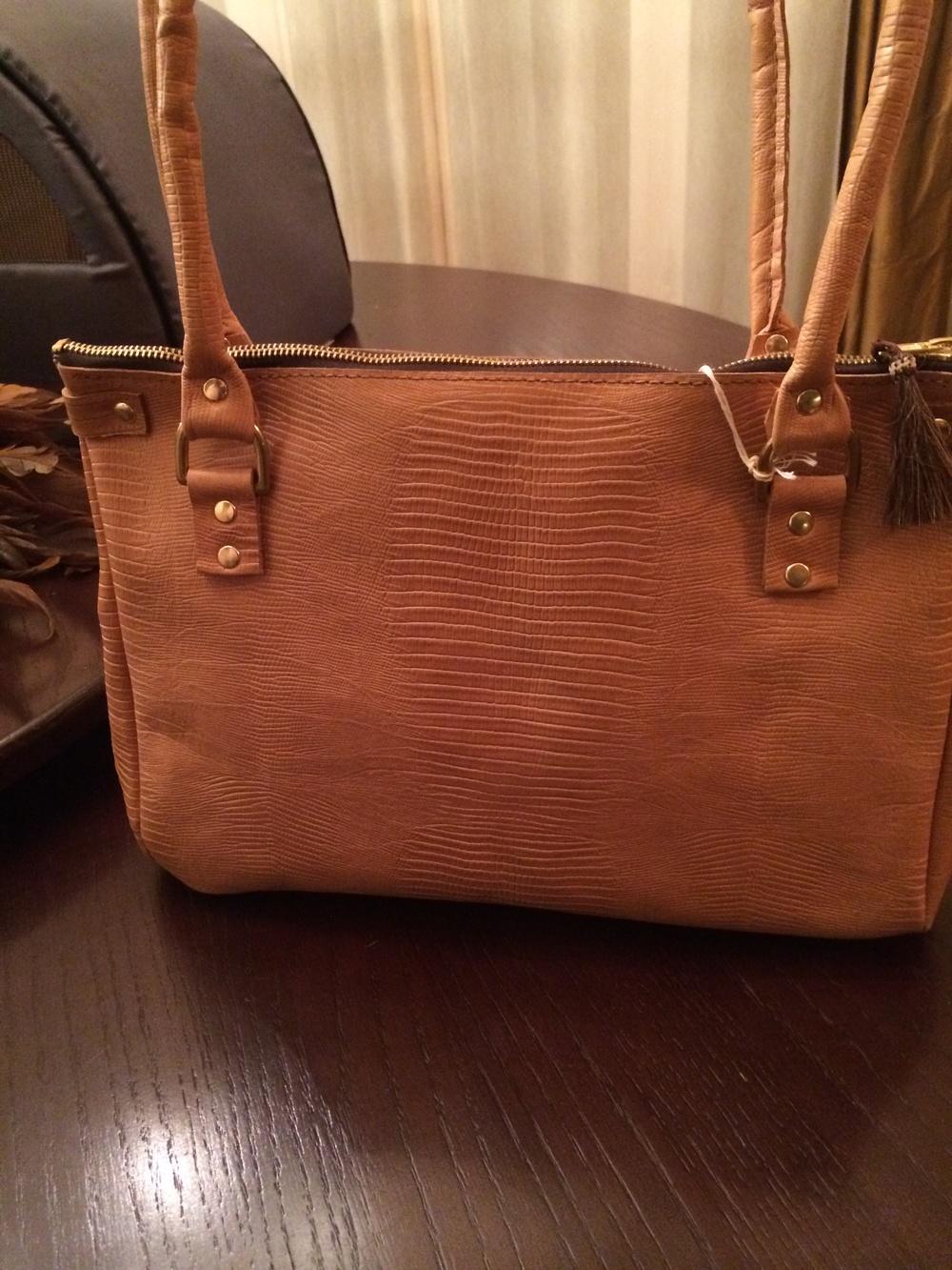 Textured Leather Handbag