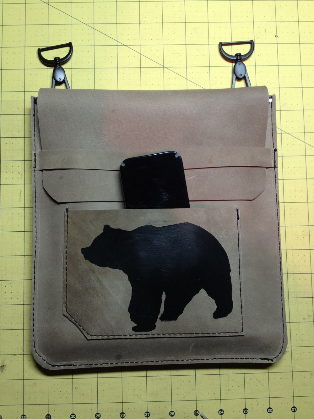 Handpainted iPad Sleeve with strap
