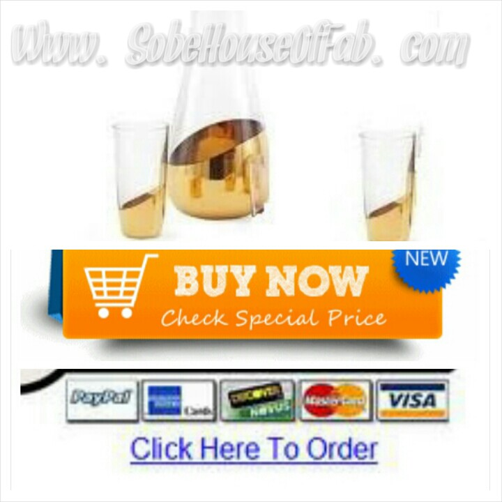 007 Goldfinger Carafe & Glass Set by Haughty Heffa