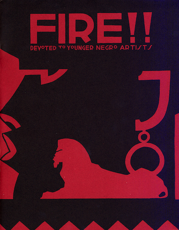 The cover of  FIRE!!  magazine.