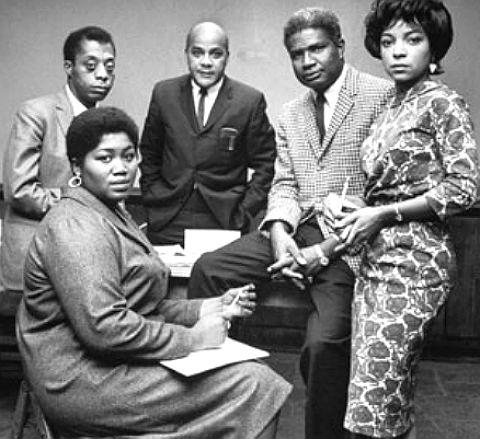 James Baldwin, Odetta , Ralph Ellison, Ossie Davis and Ruby Dee.