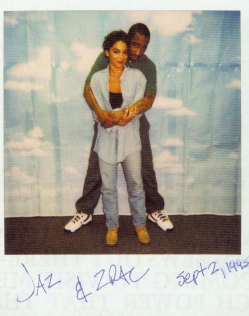 Jasmine Guy visiting Tupac in prison.