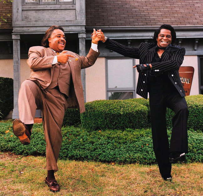 Al Sharpton and his mentor, James Brown.