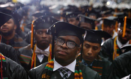 The Morehouse class of 2013 weathered a storm during their commencement.