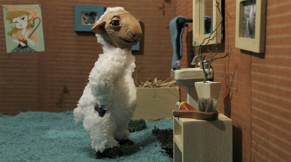 Starting with the lamb in the mirror. - Stop motion, 2015