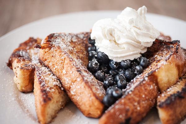 Caramelized Tahitian Vanilla Bean French Toast with Berries and Chantilly Cream