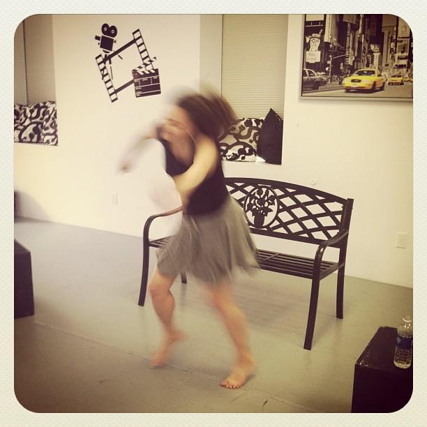 An awkwardly dancing Juliet lol