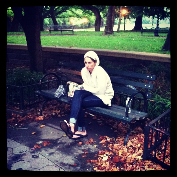 Helpless actor in the rain waiting to rehearse…. #dedication #shakespeare #bkone
