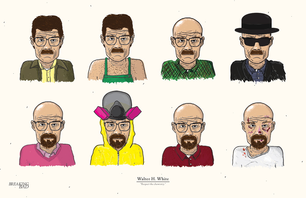 breakingbadamc: The Evolution of Walter White by Edson Muzada