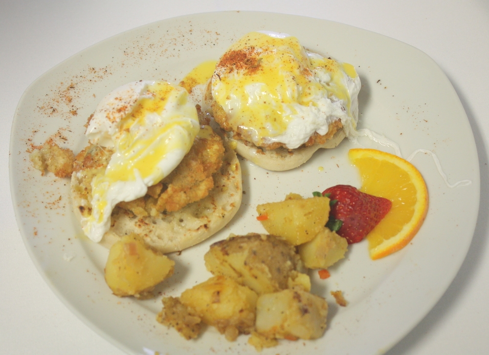 Fried Oyster Benedict