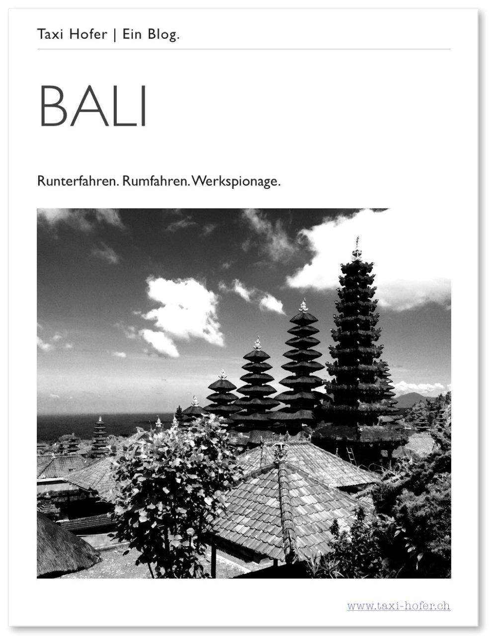 Jetzt gratis auf  iTunes  verfügbar. BALI: Runterfahren. Rumfahren. Wekspionage. (Made for iBooks)