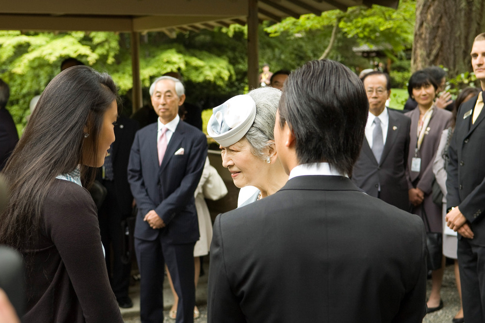 Meeting her Highness Empress Michiko from Japan