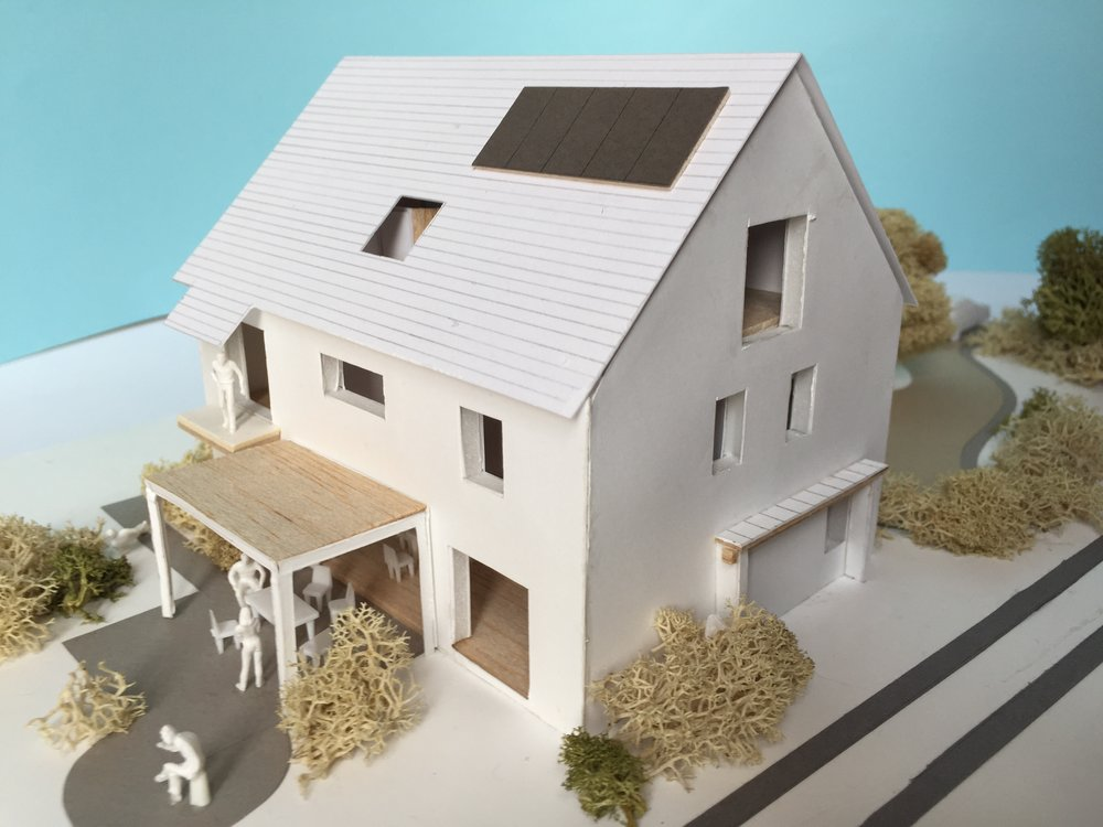 ..........1:100 scale building model for a rural detached dwelling