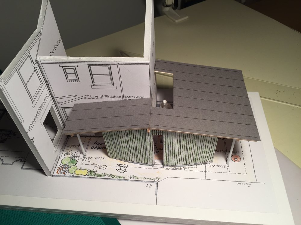 ………..1:50 scale model for an extended Kitchen and Dining space
