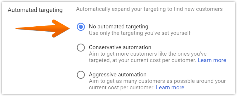 remove google's automated targeting 128 01.png