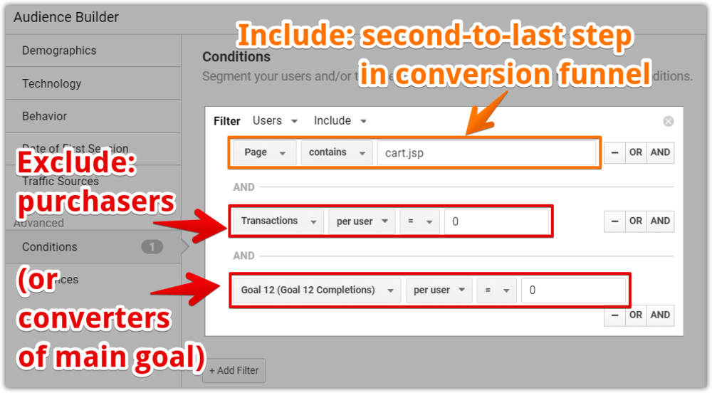 Funnel abandoners Google Analytics audience setup 89 01.png
