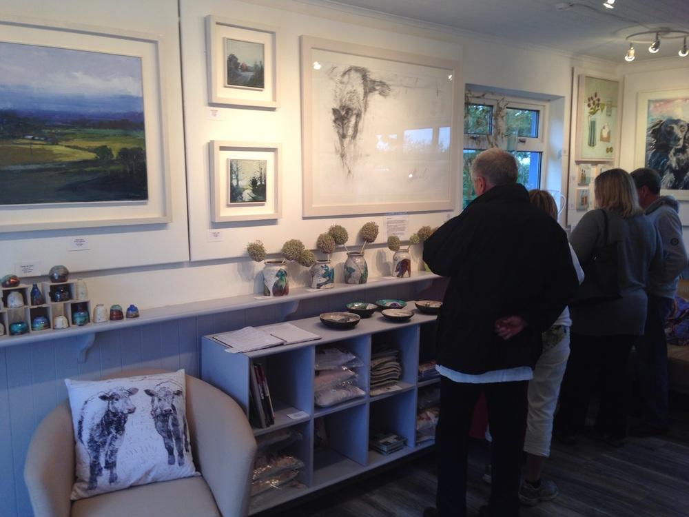 Kate Begans landscapes and Margo Banks 'dog'.