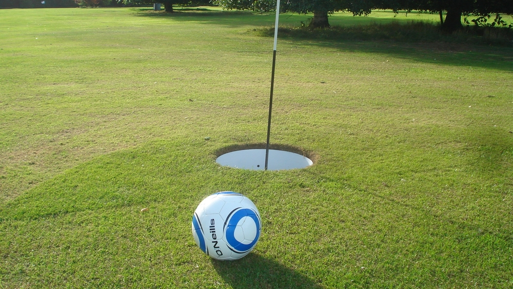 If you are both into football, unleash your competitive streak with a game of footgolf. One of the fastest growing sports in the world, footgolf is like golf, except you kick a football around the course instead.  More:  Footee