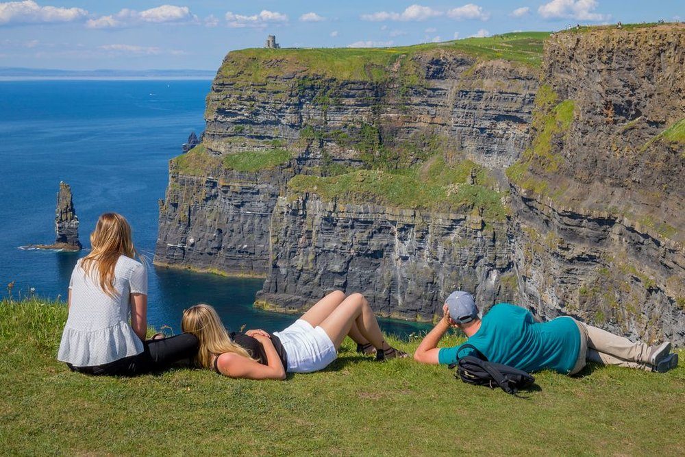 Visitors to the Cliffs of Moher