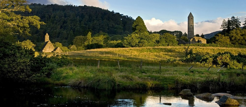 Founded by Saint Kevin, Glendalough is home to one of the most important monastic sites in Ireland. Most of the buildings that survive today date from the 10th through 12th centuries.