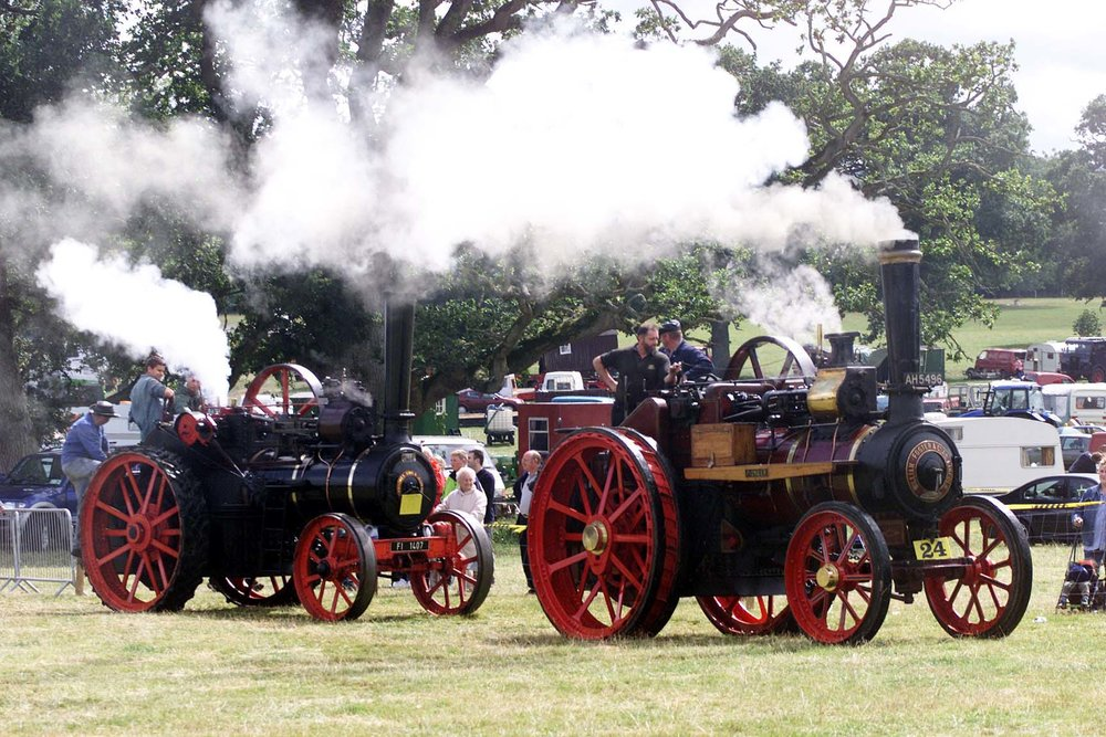 Putting out the steam at Stradbally Steam Rally on Monday.