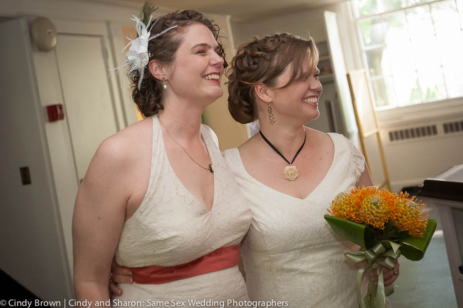 Two brides happily married