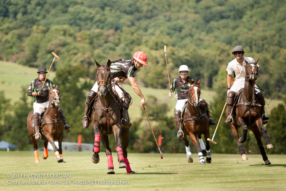 Photojournalistic coverage of polo match