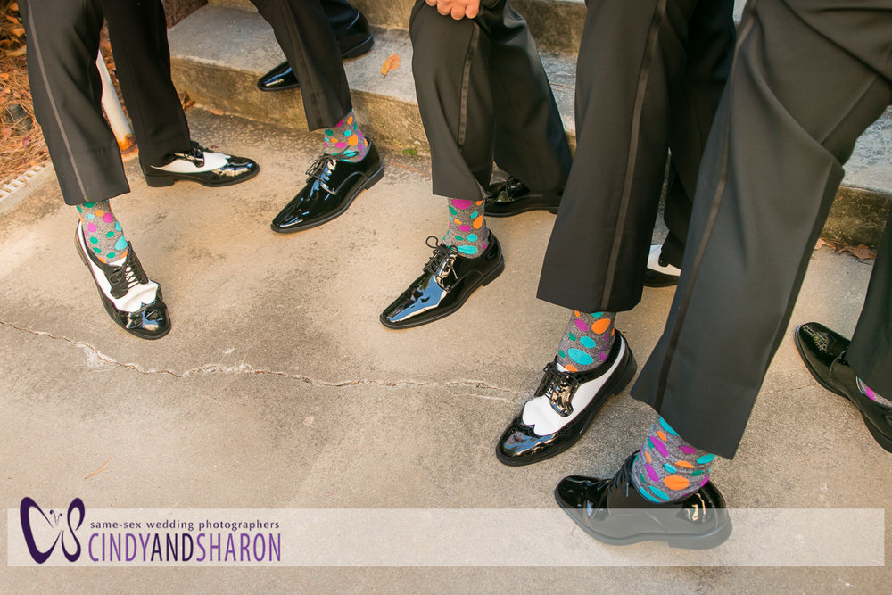 The groomsmens's socks.
