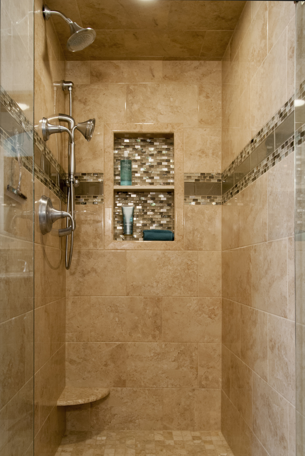 pros design of build niche creativity bathroom shower and ideas home innovation