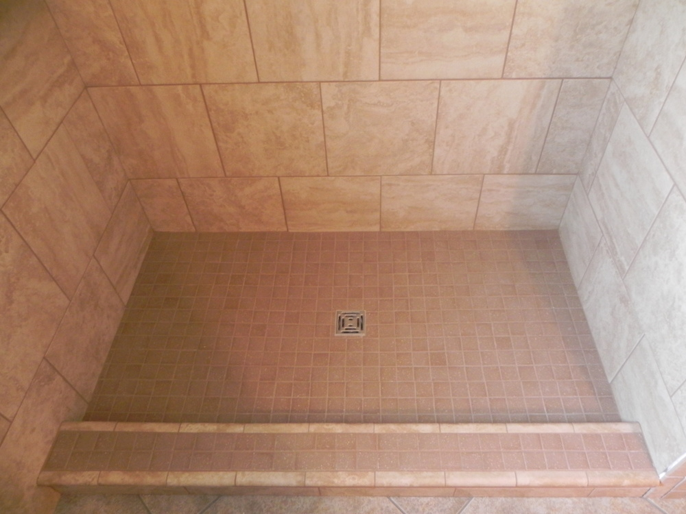 "2"" x 2"" brown porcelain tile"