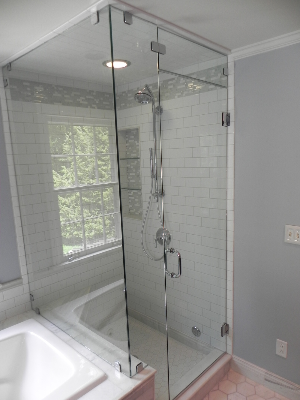 Glass shower enclosures bathroom renovations steam shower glass over tub eventelaan Images