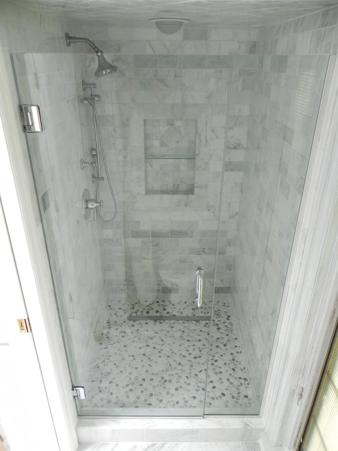 inline shower frameless glass doors