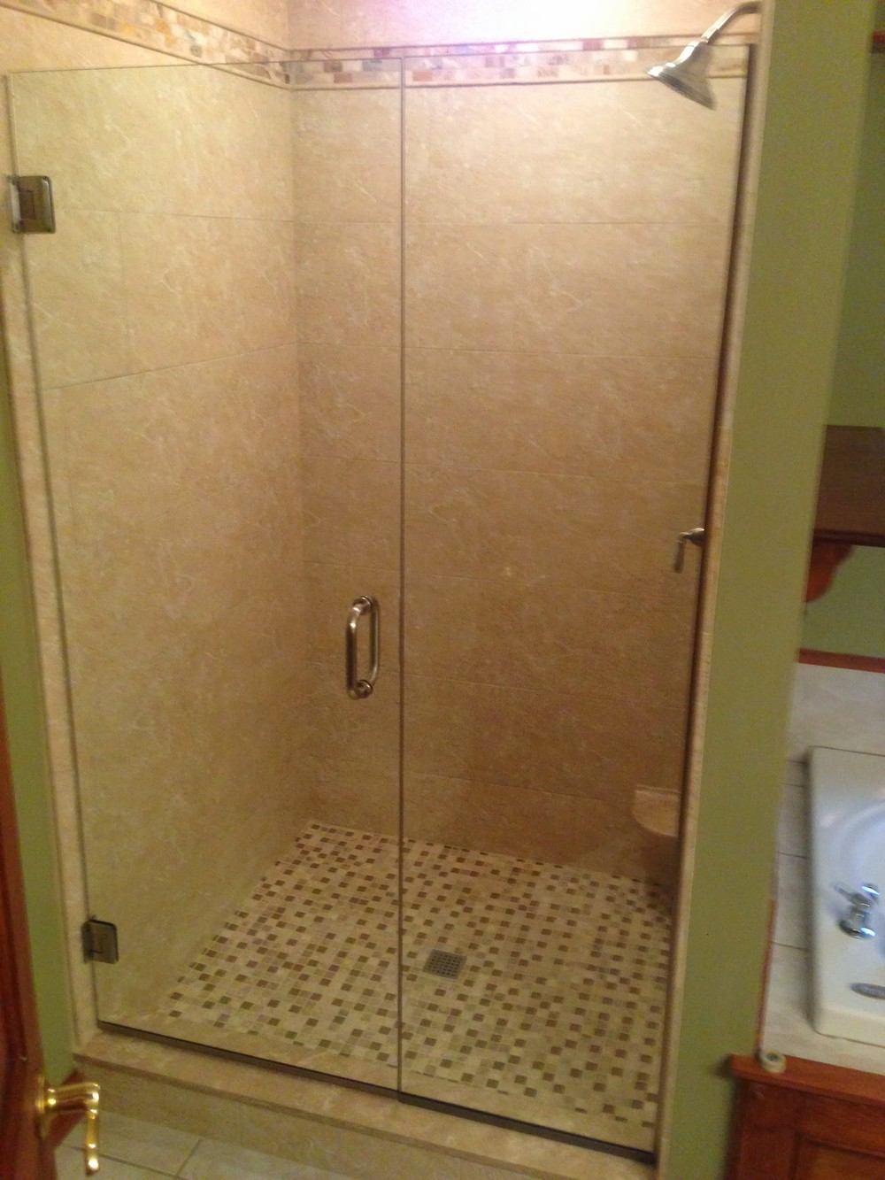 "48"" frameless shower doors"