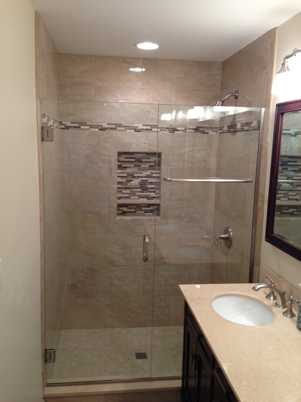 "48"" glass shower doors"