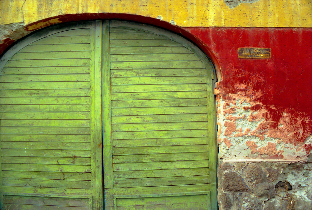 barn door green